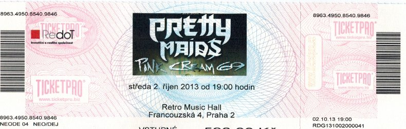 Pretty Maids, Pink Cream 69, Praha, Retro Music Hall 3. 10. 2013