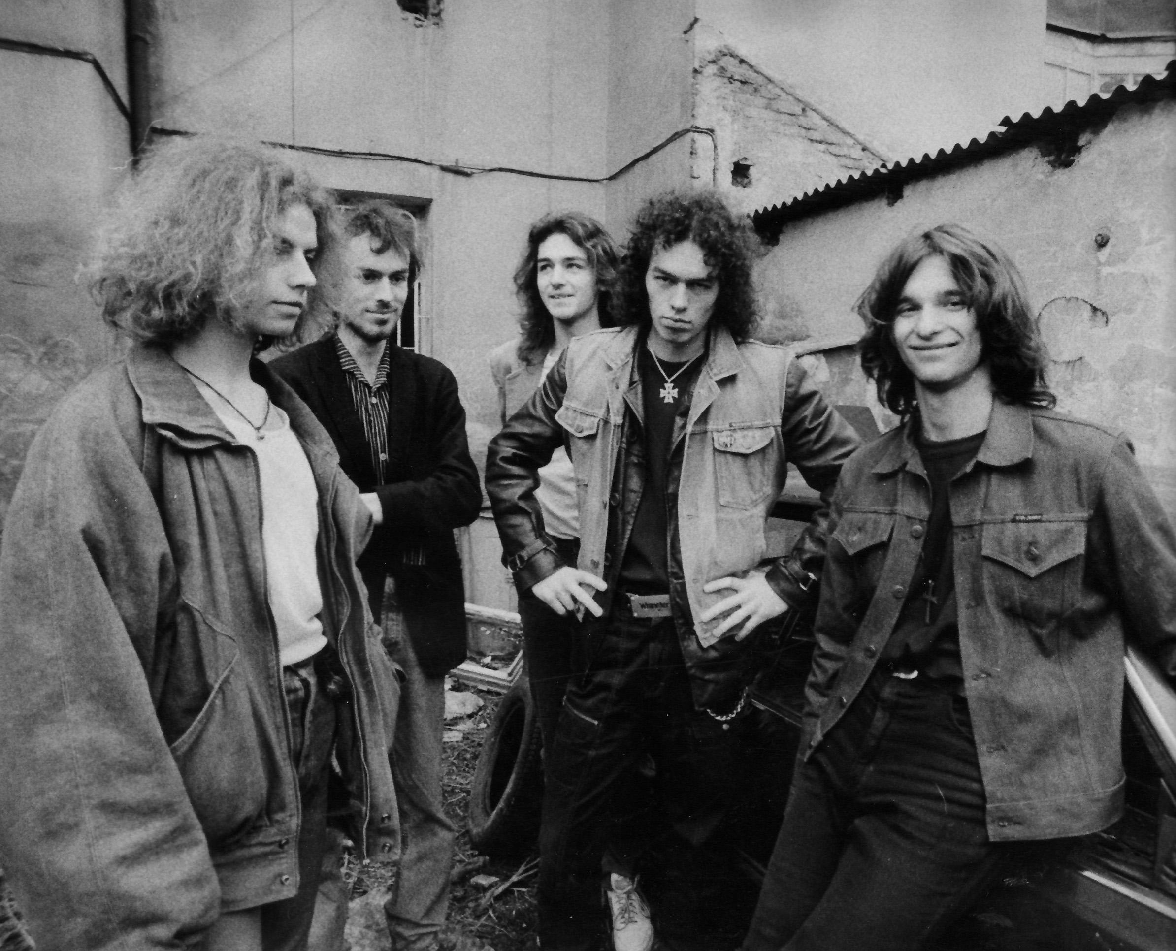 Freeway Jam - 1991 (zleva: Dušan Kovář, Adam Románek, Jindřich Musil, Paul Schenzer, Honza Holeček)