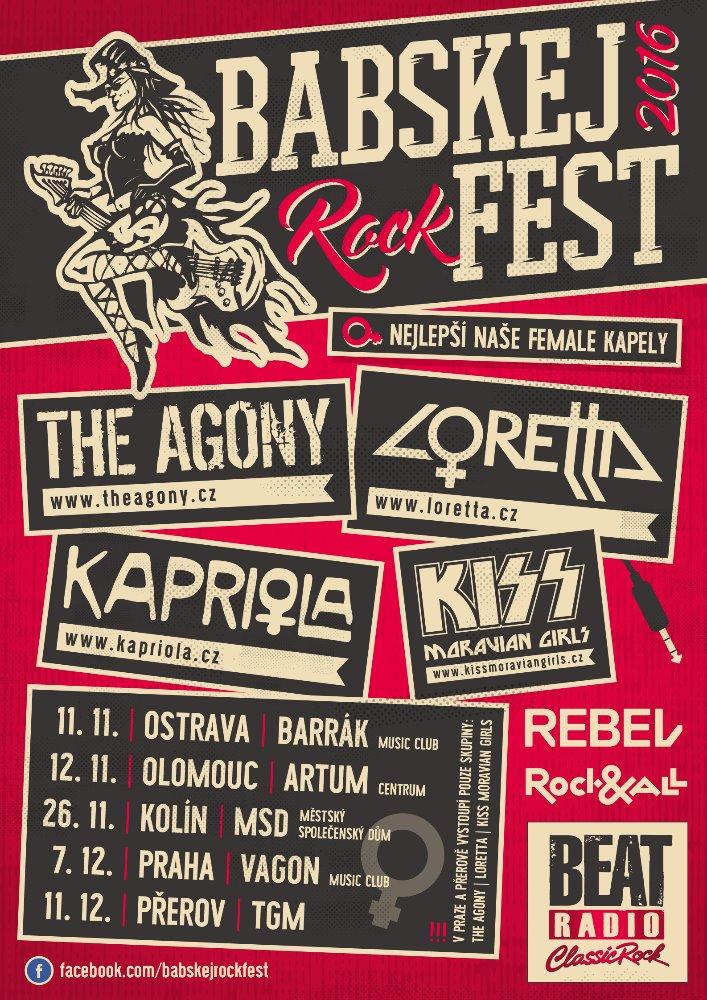 Plakát: Babskej Rockfest