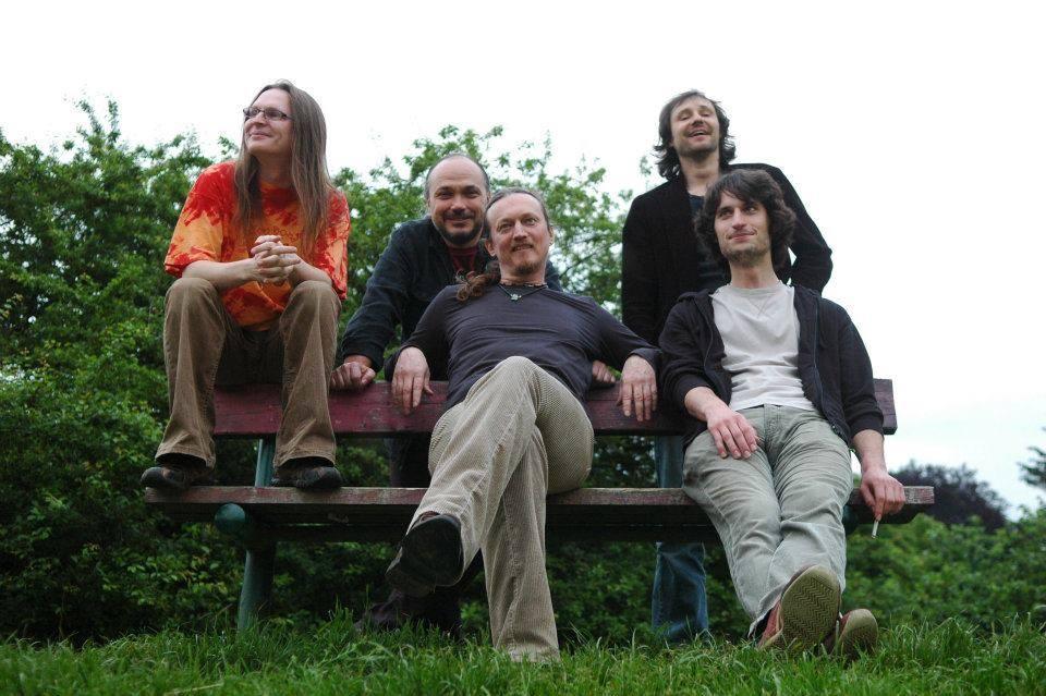 RBB v sestavě ve které kapela nahrála Reflections zleva: Kowacz, Rubeš, Jech, Horník, Čimbura