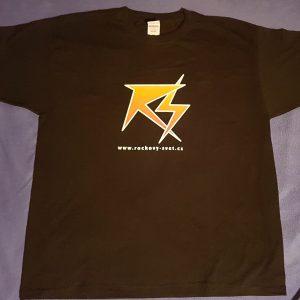 """Černé triko logo """"Rockový Svět"""" - barevné provedení"""