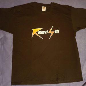"""Černé triko - nápis """"Rockový Svět"""""""