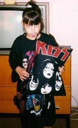 Vánoce 1996, tříletá já. Jak je z obrázku patrno, už tehdy byly kostky vrženy