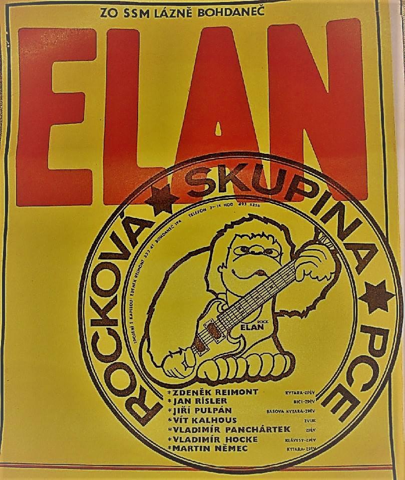 Plakát kapely Elán