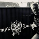 Jan Zahradil v baru Lemmy´s Lounge, Rainbow Bar and Grill, Los Angeles. Léto 2018.