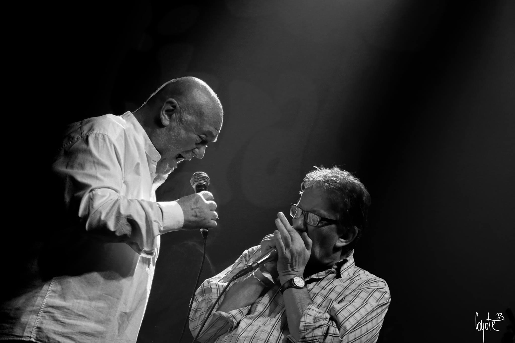 Luboš Andršt Blues Band - zleva: Peter Lipa a Ondřej Konrád