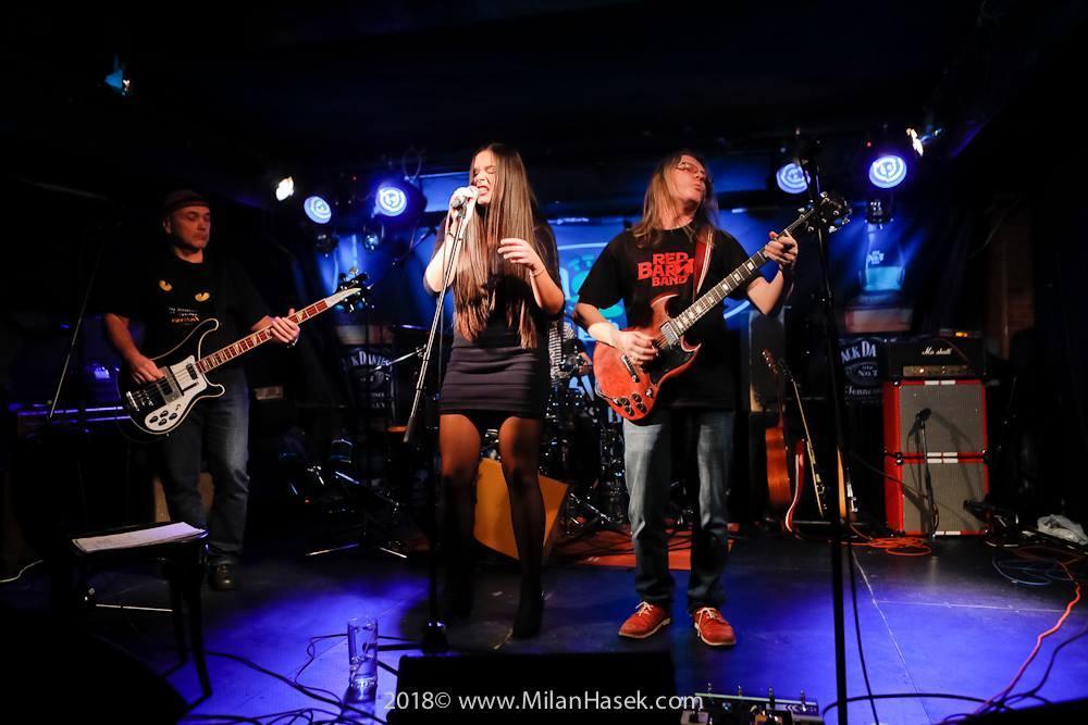 Red Baron Band - Zleva: Jiří G. Rubeš, Marika Postlerová, Paul Kowacz