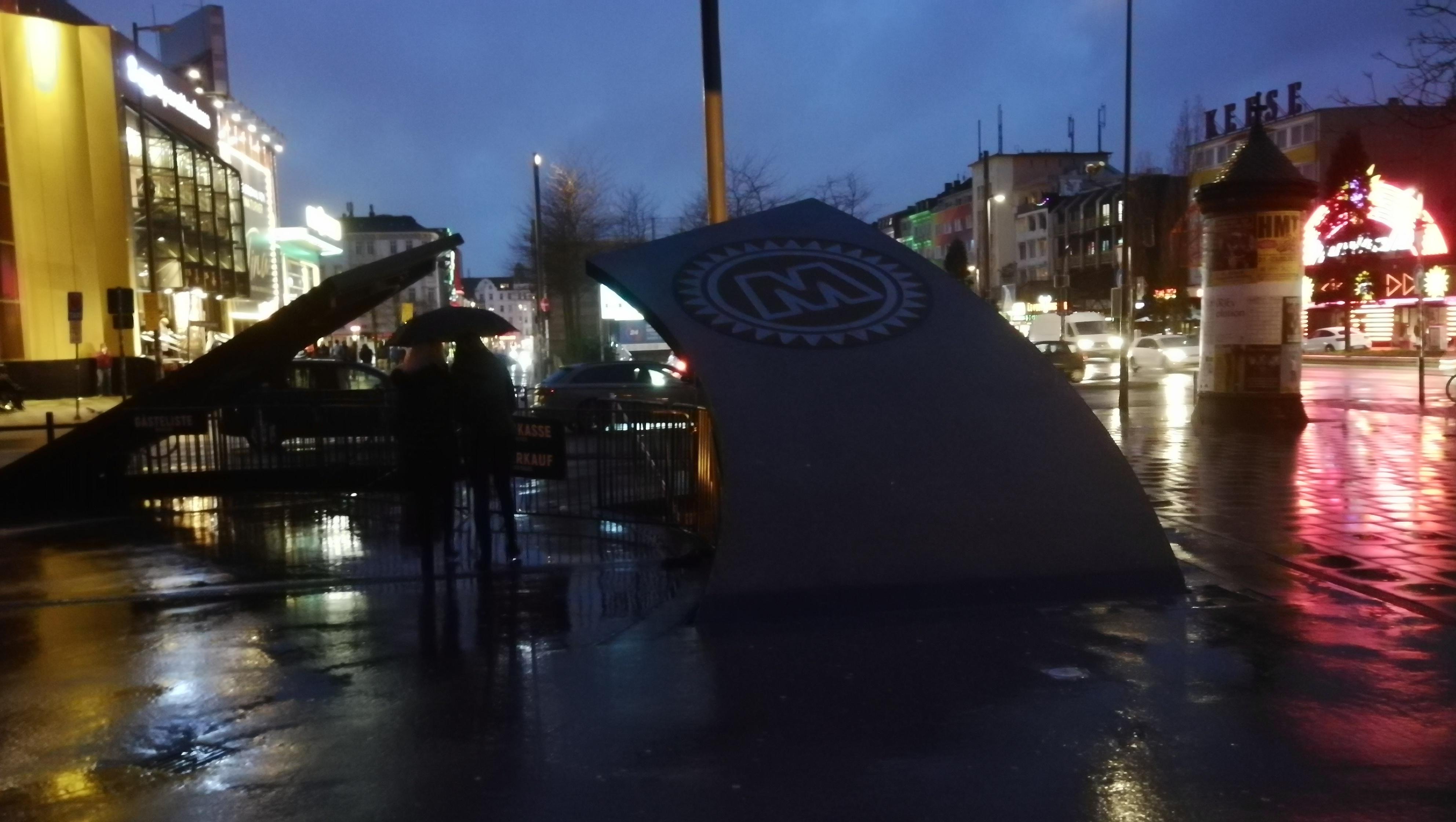 Vstup do klubu MOJO v Hamburku